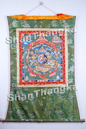 Thangka Wheel of Life - ShanThangka